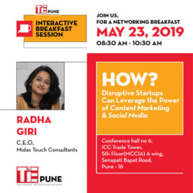 TiE Pune Interactive Breakfast Session on Social Media and Digital Marketing for Startups